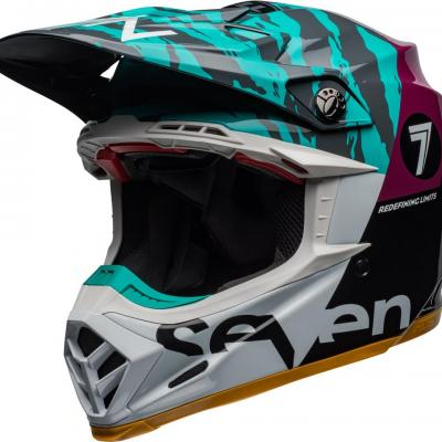 Casque bell moto 9 flex seven zone gloss aqua 1