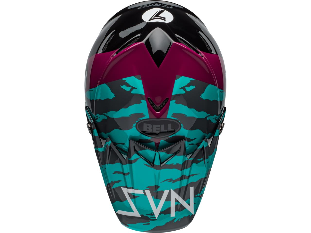 Casque bell moto 9 flex seven zone gloss aqua 2