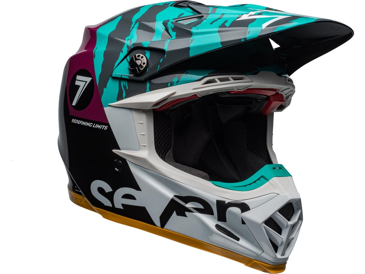 Casque bell moto 9 flex seven zone gloss aqua 3