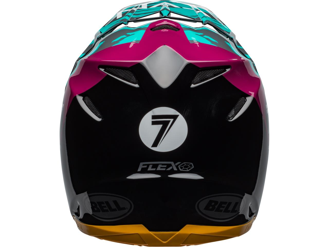 Casque bell moto 9 flex seven zone gloss aqua 4