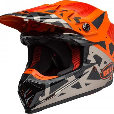 Casque bell moto 9 mips tremor matte orange 1