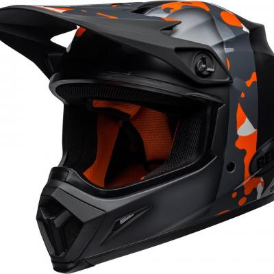Casque bell mx 9 mips presence orange camo 1