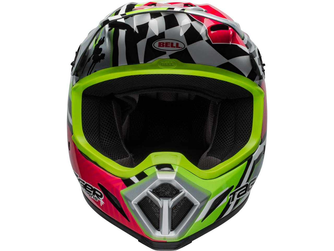 Casque bell mx 9 mips tagger asymetric green 2