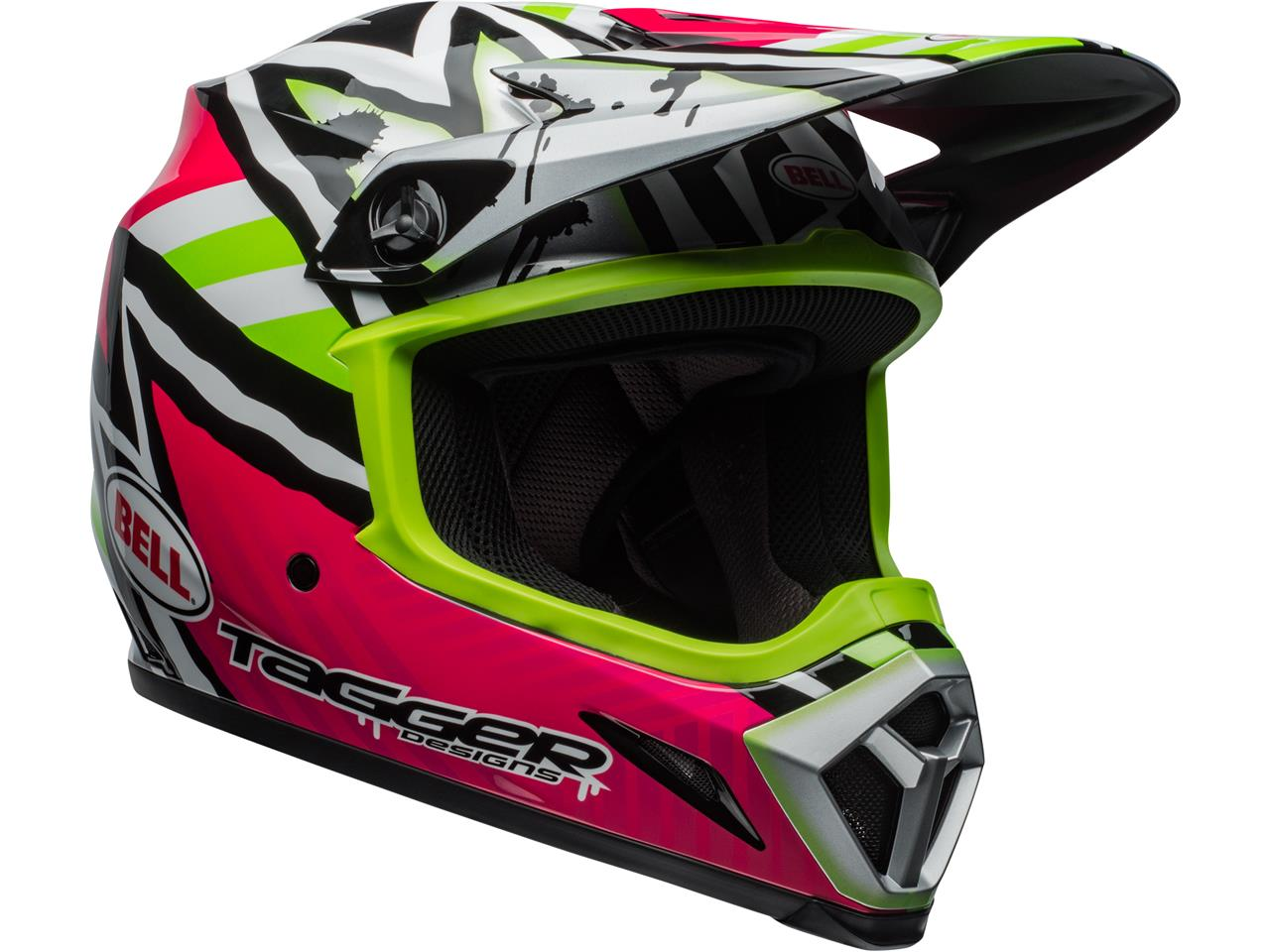 Casque bell mx 9 mips tagger asymetric green 3