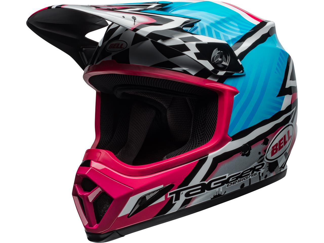 Casque bell mx 9 mips tagger asymetric pink 1