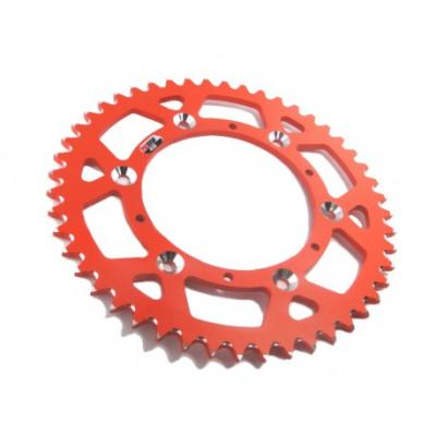 Transmission: Couronne ALU Anti-Boue PROSTUF ORANGE KTM SX+F EXC+F 1991 à 2018