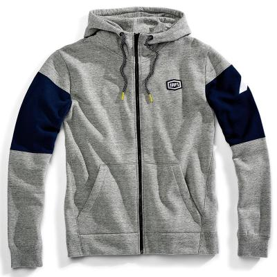Emissary zip hooded sweatshirt gunmetal