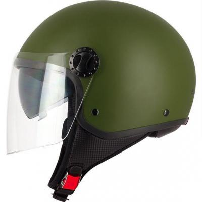 Casque route demi-jet R-fully S706 Vert army