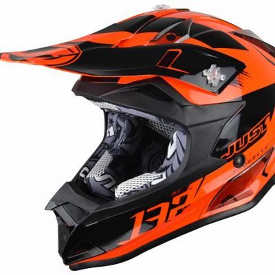 Casque Motocross enfant JUST1 J32 Kick orange