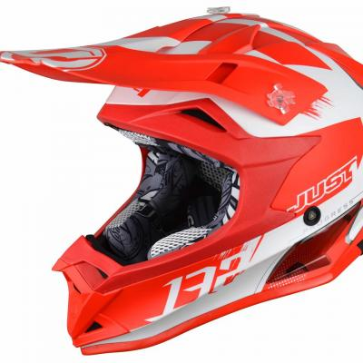 Casque Motocross enfant JUST1 J32 Kick rouge / blanc