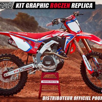 Déco: Kit déco officiel Honda HRC 2019 THROTTLE JOCKEY CRF 2017 à 2019 (Roczen)