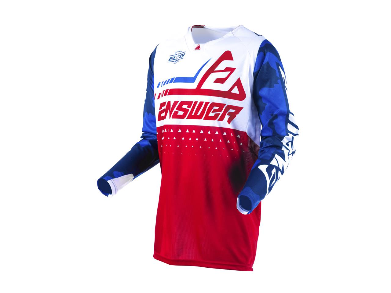 Maillot answer elite discord rouge blanc 1