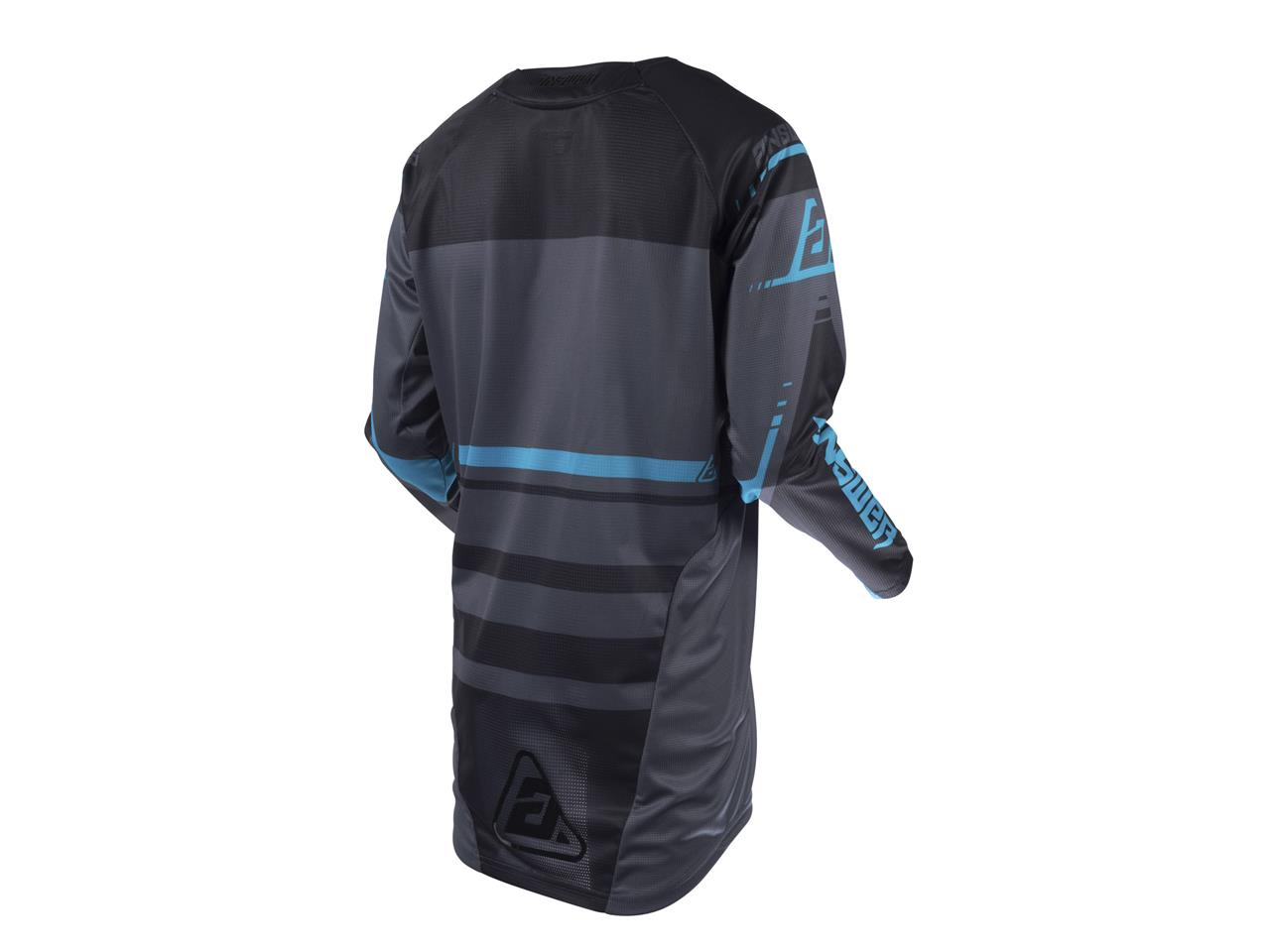 Maillot answer elite force charcoal black astana 2