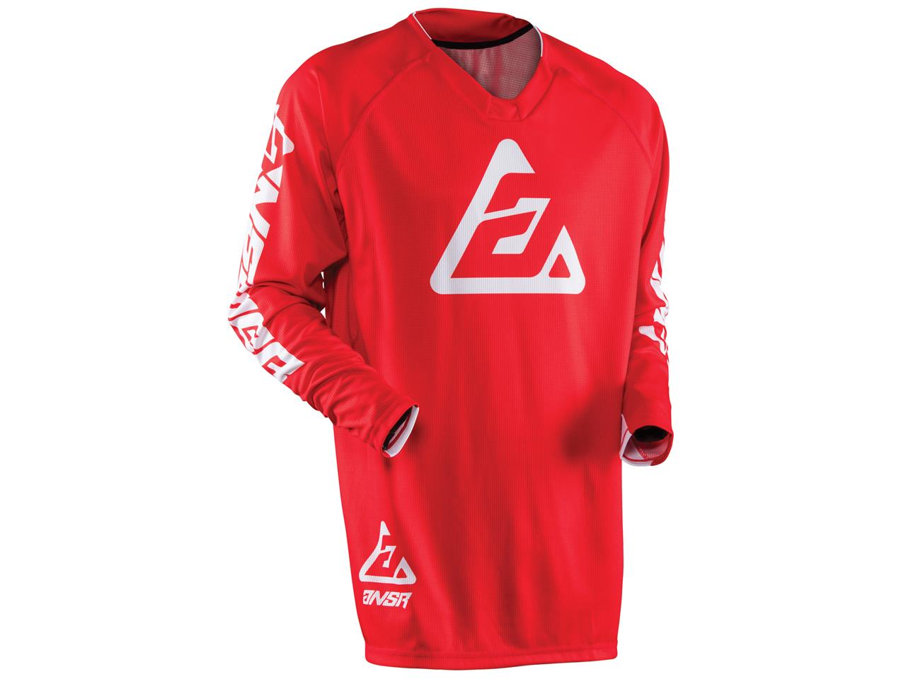 Maillot answer elite solid rouge 3