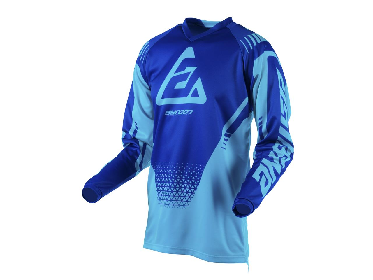 Maillot answer syncron drift astana reflex blue 1