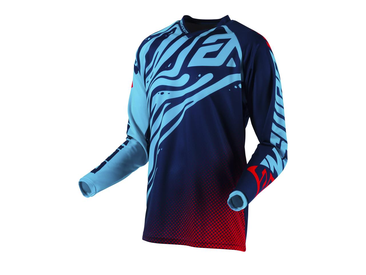 Maillot answer syncron flow astana indigo bright red 1
