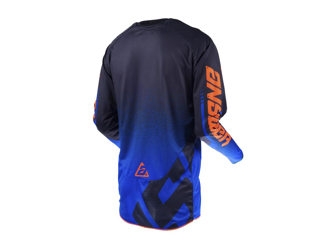 Maillot answer trinity black cobalt orange 2