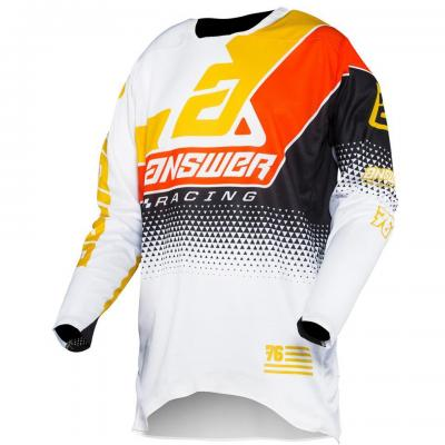 Maillot Motocross ANSWER Elite Korza Blanc / Jaune / Noir