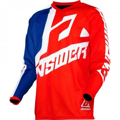 Maillot Motocross ANSWER Syncron Bleu / Blanc / Rouge