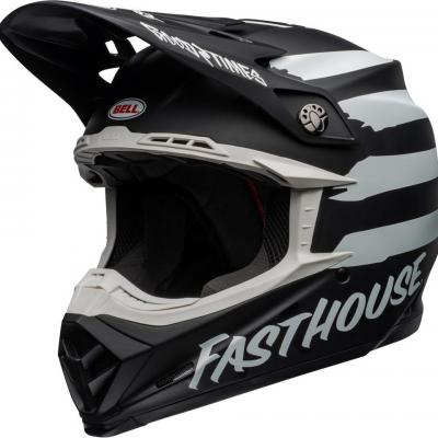 Casque Motocross BELL Moto-9 Mips Fasthouse Signia NOIR / Blanc