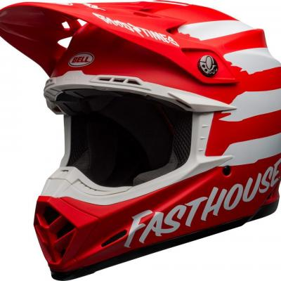 Casque Motocross BELL Moto-9 Mips Fasthouse Signia Rouge / Blanc