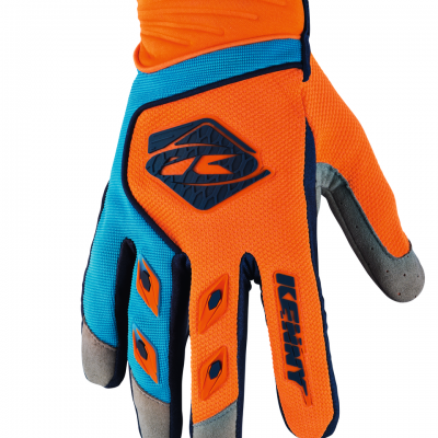 Gants motocross Kenny Track Orange / Sky 2018