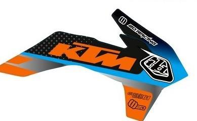 Déco ouies de radiateurs KTM Troy lee design Orange/bleu