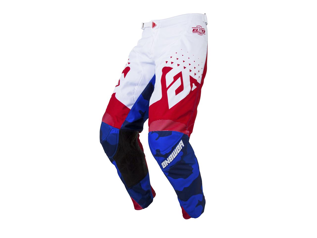 Pantalon answer elite discord rouge blanc 1