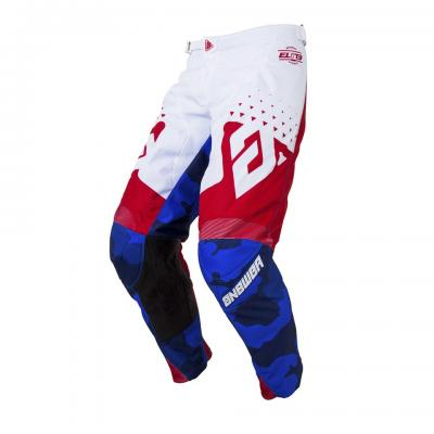 Pantalon Motocross ANSWER Elite Discord Rouge / Blanc