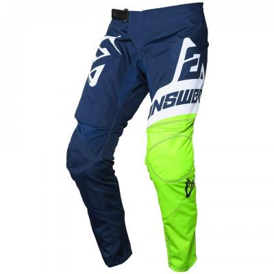 Pantalon motocross enfant ANSWER Syncron Bleu / Jaune Fluo