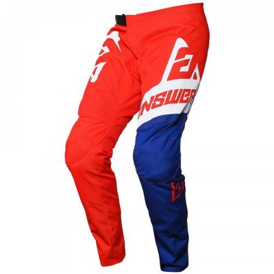 Pantalon motocross enfant ANSWER Syncron Bleu / Blanc / Rouge