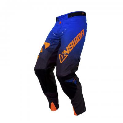 Pantalon Motocross ANSWER Trinity Black / Cobalt / Orange
