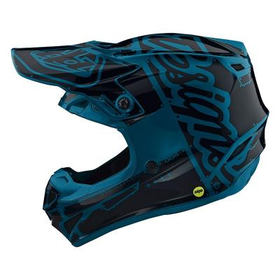 Casque Motocross enfant TROY LEE DESIGN SE4 Polyacrylite Ocean