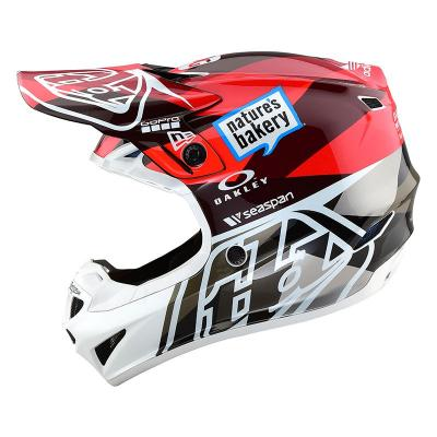 Casque Motocross enfant TROY LEE DESIGN SE4 Polyacrylite Orange / Gris