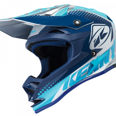 Casque Kenny Motocross Performance Silver Blue 2018