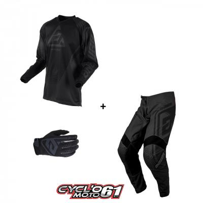 Tenue + Gants Motocross  ANSWER Syncron Drift Charcoal / Black