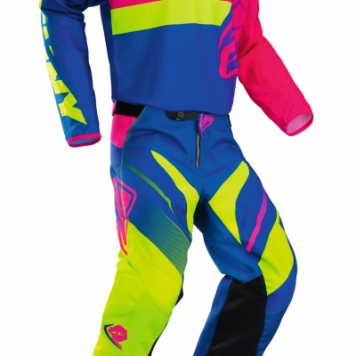 Tenue Motocross Kenny Track Lime / Pink 2018