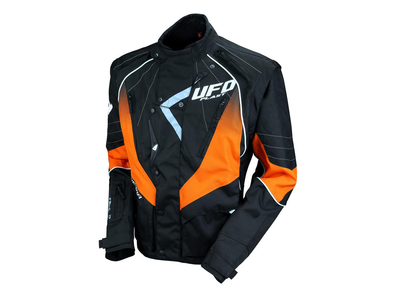 Veste enduro noir orange 1