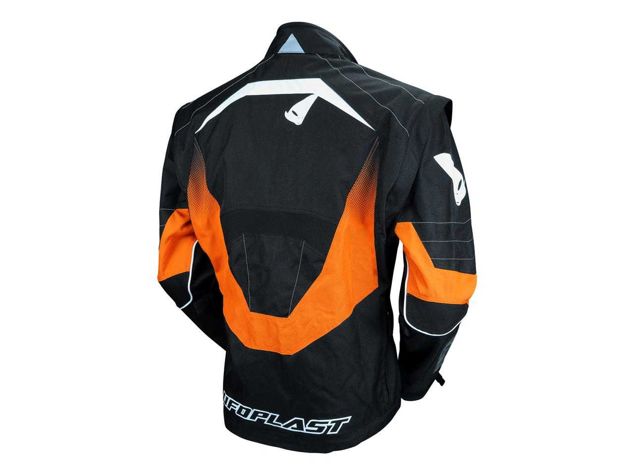 Veste enduro noir orange 2